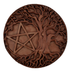 Tree of Life Pentacle Altar Tile