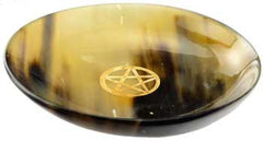 Polished Horn Pentacle Offering Bowl