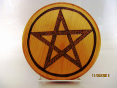 Stippled Pentagram Altar Tile Paten