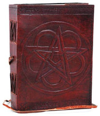 Pentagram Leather Blank Book