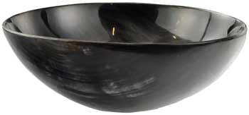 Polished Horn Ritual Offering Bowl 5.25 inch