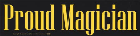 Proud Magician bumper sticker