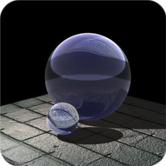 "Purple Crystal Ball 3"" 80 mm"