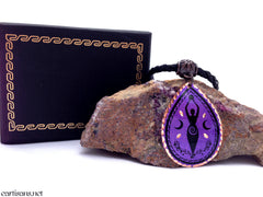 Purple Copper Moon Goddess Necklace
