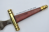 Purpleheart Athame with Brass Cross Guard-11 1/4 inch