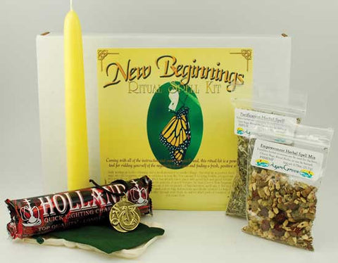 New Beginnings boxed ritual kit