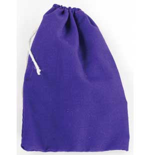 "Purple Cotton Bag 3"" x 4"""