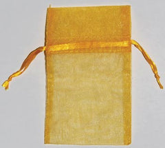 Small Gold Organza Pouch
