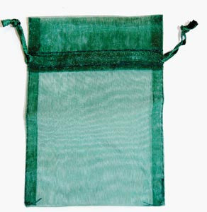 Small Green Organza Pouch