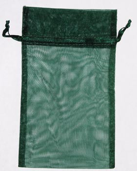 Large Green Organza Pouch