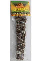 "Love & Happiness smudge stick 5""- 6"""