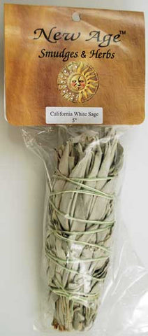 "White Sage Smudge Stick 5""- 6"""