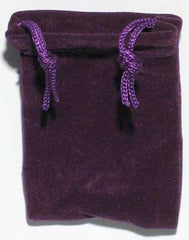 Purple Velveteen Bag  (2 x 2 1/2)