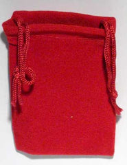 Red Velveteen Bag  (2 x 2 1/2)
