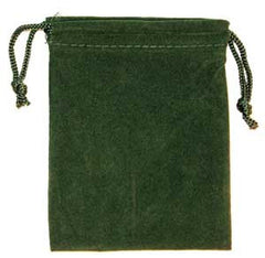 Green Velveteen Bag  (2 x 2 1/2)