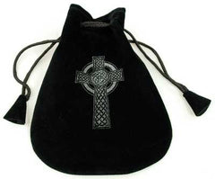 Celtic Cross Velveteen Bag 5""