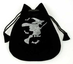 "Witch Velveteen Drawstring Bag 5"" x 5 1/2"""