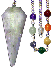 Rainbow Moonstone Pendulum Set