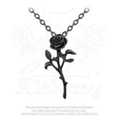 Romance of the Black Rose Necklace