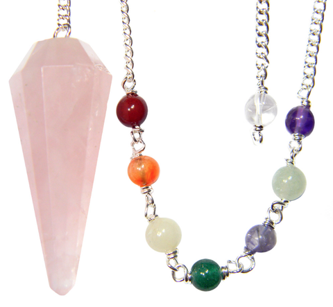Rose Quartz Pendulum Set