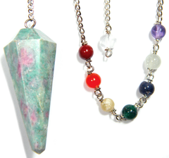 Ruby Zoisite Gemstone Pendulum Set
