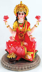 Goddess Laxmi Statuary on a Lotus Flower 5""