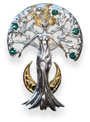Serene Celina Sylvana Tree Spirit Necklace by Anne Stokes - For Inner Strength & Self Knowledge