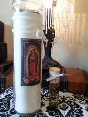 Santisima Muerte 9 Day Candle and Oil, Novena
