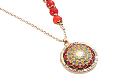 Mandala Pendant and Necklace. Meaning: Self-Growth Development-Success & Potential