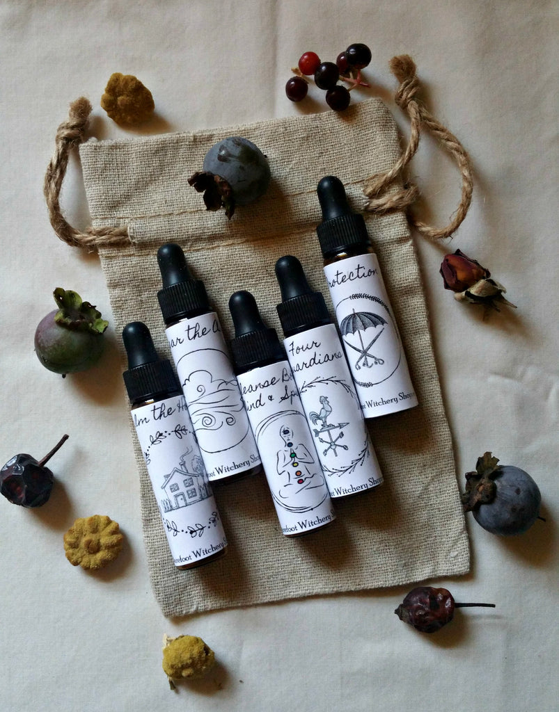 Spiritual Cleansing and Protection Essential Oil Set By The Barefoot W
