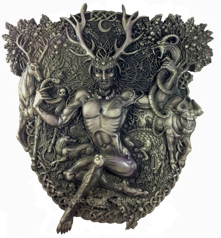 Cernunnos Plaque Stone Finish Eartisans Wiccan Amp Pagan
