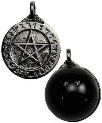 Theban pentagram with scrying disk eartisans wiccan pagan products theban pentagram with scrying disk aloadofball Image collections