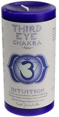 "Third Eye Chakra Pillar Candle 3"" x 6"""