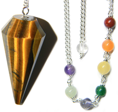 Tigers Eye Pendulum Set