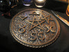Extra Large British Traditional Wicca Coven Pentacle-Solid Bronze