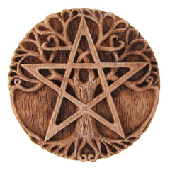 Small Tree of Life Pentacle Plaque/Altar Tile