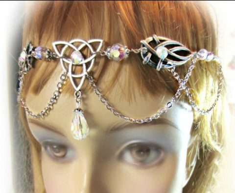 Triquetra Celtic Circlet, Choose Color