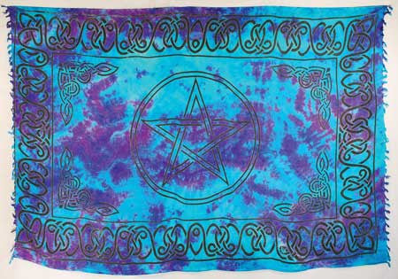 "Pentagram Sarong/ Altar Cloth 44"" x 72"""