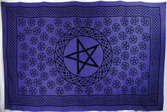 "Purple Pentagram Tapestry 72"" x 108"""