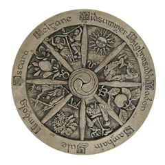 Large Wheel of the Year Plaque-Stone Finish