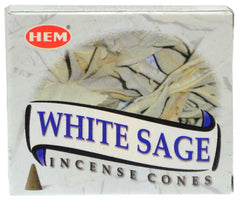 White Sage HEM Cone Incense