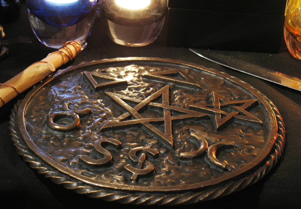 Extra Large British Traditional Wicca Coven Pentacle-Solid