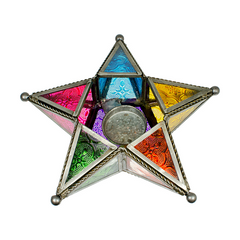 Elemental Altar Pentagram Candle Holder-7.5 inch