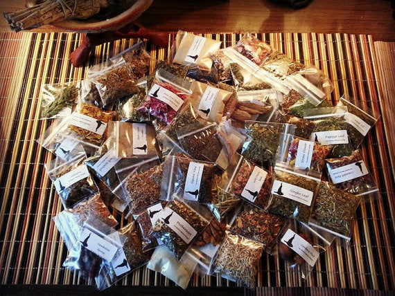 Witch's Herbal Apothecary Set-60 Herb Collection