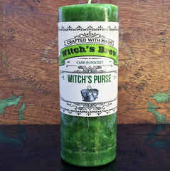 Witch's Purse Witch's Brew Spell Candle - 6.5 inch Pillar