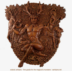 Cernunnos Plaque-Wood Finish