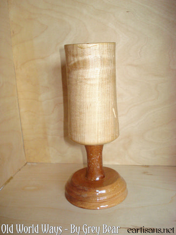 Wormy Maple, Mahogany and Cherry Wood Chalice