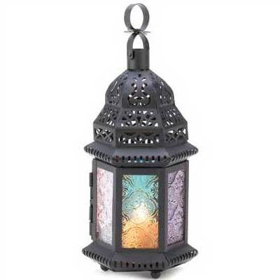 God & Goddess or Spirit Rainbow Elemental Candle Lantern 10 1/4""