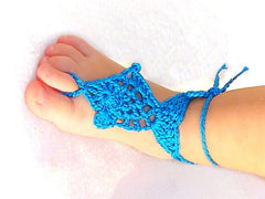 Baby Blue Fish Barefoot Sandals