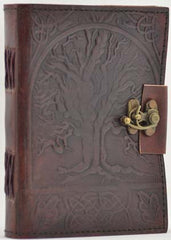 "5"" x 7"" Tree of Life Leather blank book"